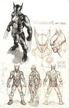 Wolverine costume design Comic Art
