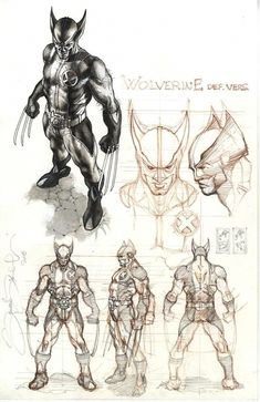 Wolverine costume design Comic Art