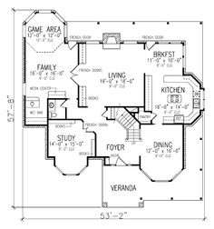 Victorian Style House Plan 95686 with 3 Bed, 3 Bath, 2 Car Garage – victorian farmhouse plans House Plans 3 Bedroom, Family House Plans, Country Style House Plans, Country Style Homes, House Floor Plans, Bedroom Ideas, Victorian House Plans, Victorian Farmhouse, Victorian Homes