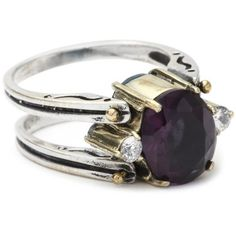 BORA Reversible Amethyst and Blue Topaz Ring,Size 7: Jewelry: Amazon.com