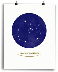 Sagittarius Constellation Print - Minimal Style