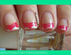 Bows french manicure