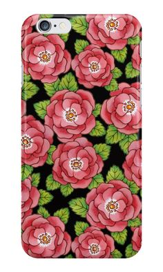 Alpen Rose Design #iPhone Cases by #PatriciaSheaDesigns on #Redbubble