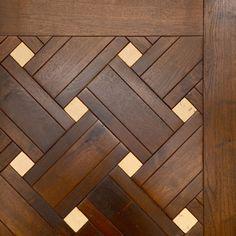 Walnut Beauvais Pattern with Stone Wood Floor Design, Wood Floor Pattern, Tile Design, Door Design, Wood Parquet, Timber Flooring, Foyer Flooring, Kitchen Flooring, Wood Mosaic
