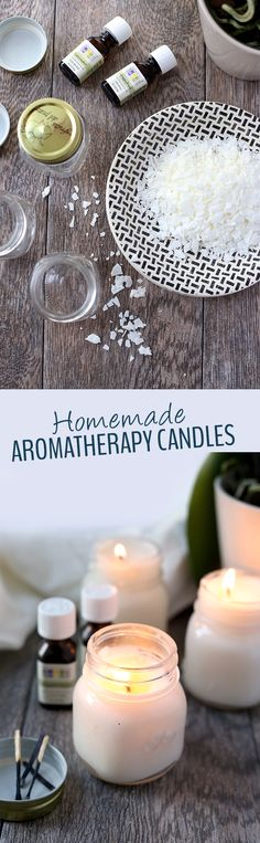 Homemade Aromatherapy Candles - The Healthy Maven Who doesn't love candles? These Homemade Aromatherapy Candles make the ultimate relaxation gift and the perfect use for all of those old mason jars. You just need wax, wicks and essential oils. Homemade Candles, Diy Candles, Homemade Gifts, Diy Gifts, Making Candles, Natural Candles, Food Gifts, Diy Aromatherapy Candles, Beeswax Candles
