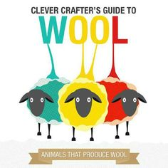 Clever Crafter's Guide to Wool ... fun wool facts, handy yardage estimator for your next project, wool weight cheat sheet, and quick reference to specialty fibers #wool #yarn #crochet #knit #fiber #fiberarts