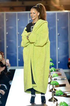 Rihanna walks the runway at the Fenty x Puma by Rihanna show as part of the Paris Fashion Week Womenswear Fall/Winter 2017/2018 on March 6, 2017 in Paris, France.