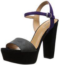 Nine West Women's Carnation Suede Dress Pump, Dark Grey/Dark Purple, 6.5 M US