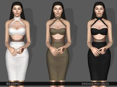 Sims 3 Clothing https://www.thesimsresource.com/downloads/details/category/sims3-clothing-female/title/bandage-midi-dress/id/1390216/