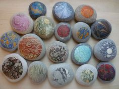 Marbled paper stones by les fabulations, via Flickr