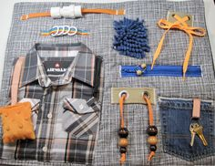 Masculine Plaid Shirt on Fidget, Sensory, Activity Quilt Blanket by TotallySewn on Etsy