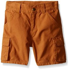 Carhartt Boys Canvas Cargo Short Carhartt Brown 3 Months ** Want additional info? Click on the image.
