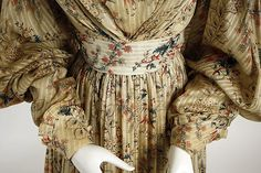 Dress Date: 1828–30 Culture: American Medium: cotton Dimensions: Length at CB: 50 1/2 in. (128.3 cm) Credit Line: Gift of Mrs. F. N. Crosby, 1948 Accession Number: C.I.48.45.1a, b