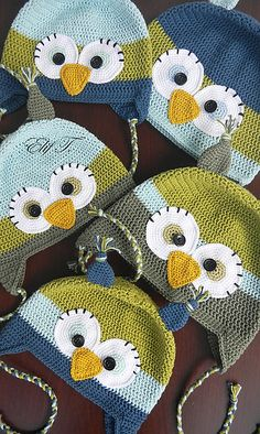 Ravelry: Elif0427's owl hats