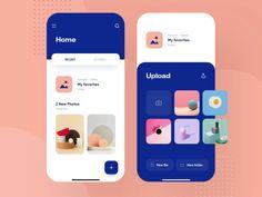 Dropbox Redesign Concept - Mobile Product Design designed by Aurélien Salomon ➔ for Orizon: UI/UX Design Agency. Connect with them on Dribbble; Web Design, App Ui Design, User Interface Design, Brand Design, Flat Design, Ui Design Mobile, Logos Retro, App Design Inspiration, Mobile App Ui
