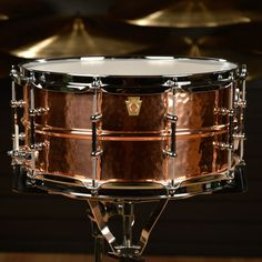 Ludwig 6.5x14 Hammered Copper Snare Drum w/Tube Lugs