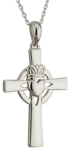Check out our Sterling Silver Claddagh Celtic Cross Celtic Crosses, Claddagh, Pendants, Sterling Silver, Check, Handmade, Jewelry, Hand Made, Bijoux