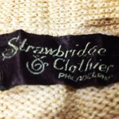 Found this sweater inside a footstool...reminds me of AMC days and Strawbridge being a founder back in 1919 #vintage #upholstery #surprise