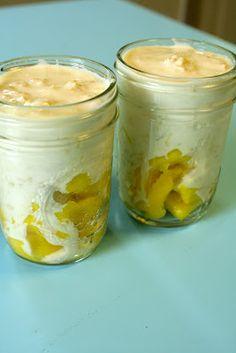 Overnight Oats - with greek yogurt, almond milk, honey and fruit!