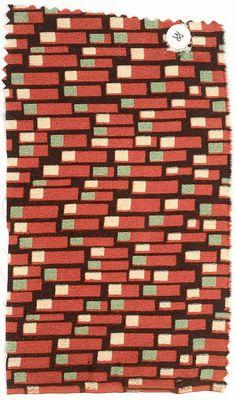 Textile sample Josef Hoffmann (Austrian, Pirnitz 1870–1956 Vienna) Manufacturer: Wiener Werkstätte Date: ca. 1920 Classification: Textiles-P...