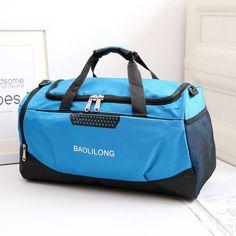 12836ce4f81 Men Travel Bags Large Capacity Travel Duffle Bag Casual Nylon Waterproof  Luggage Duffle Bags Women Shoulder