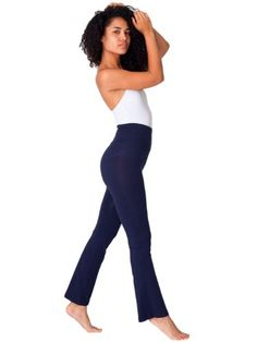 b228c008a4 American Apparel Cotton Spandex Jersey Yoga Pant Large-Navy » Yoga Yoga Wear,  Outdoor