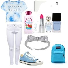 A fashion look from July 2015 featuring Lipsy jeans, Converse sneakers and JanSport backpacks. Browse and shop related looks.