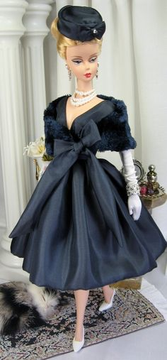 Close to Midnight for Silkstone Barbie and similar size dolls on Etsy now