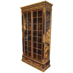 Fine French Neoclassical Chinoiserie Library Cabinet | 1stdibs.com