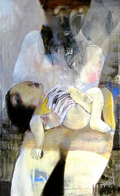 "Saatchi Art Artist Victor Tkachenko; Painting, ""Mother and Child"" #art"