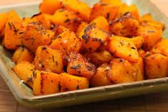 A vegitarian/gluten free recipe for my son, Daniel! Roasted Butternut Squash with Lime and Rosemary