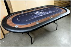 High End Full size Poker Table with removable playing surface for custom printing and wood racetrack with aluminum cupholders. Best Facebook, Free Facebook, Custom Tables, Poker Games, Poker Chips, Sex And Love, Best Player, Poker Table, Games To Play