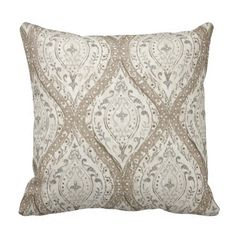 This pillow is perfect for many couches or chairs. Made with beautiful, high quality fabric   (a) Listing is for ONE pillow  (b) Fits whatever size pillow insert (not included) you want from tab above CLICK ON Dimensions for your options.  (c) Colors: beige, ivory and grey  (d) Back Color: Same as front  (e) Closure : Zipper  (f) Made in pet and smoke-free home  (g) Care: Hand wash   *Listing is for one cover* Please make sure to note shipping times  Thanks for shopping