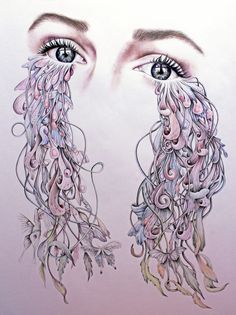 Beautiful Illustrations by Kate Powell Kate Powell, Tears Art, Powerful Art, Illustration Artists, Art Portfolio, Art Inspo, Vector Art, Amazing Art, Fantasy Art