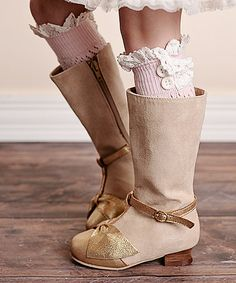 Another great find on #zulily! Pink Leaf Lace-Trim Leg Warmers #zulilyfinds