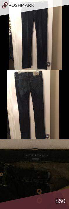 Straight leg Ralph Lauren jeans never worn Straight leg dark denim Ralph Lauren jeans. Size 28. Never worn. I paid $70 selling for $50 Ralph Lauren Jeans Straight Leg