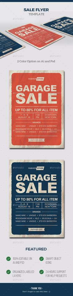 Garage Sale by RockGasm Neighborhood Garage Sale, Ai Illustrator, Sale Flyer, Business Flyer Templates, Graphic Design Inspiration, Flyer Design, Icons, Logos, Logo