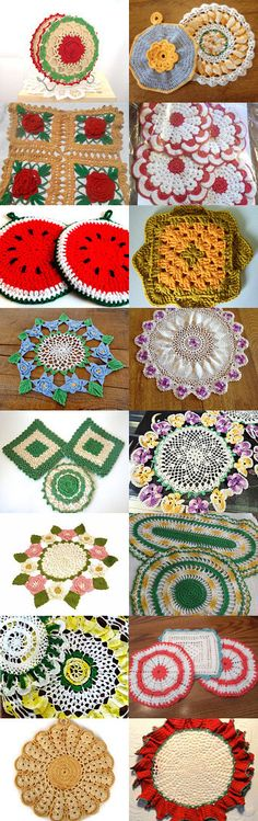 Retro Crochet Hot Pads by Valerie on Etsy--Pinned with TreasuryPin.com