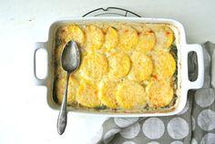 Spinach Mushroom Polenta Casserole. I'm making this for dinner tonight.