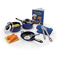 $24.99 Who's the best chef in your house? It could be you! The Pretend & Play Pro Chef Set features a full set of pots, pans and utensils (even faux food!) that looks like the real thing!
