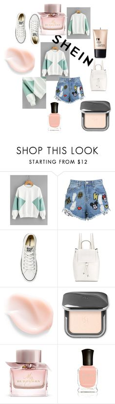 """Untitled #78"" by lejlasehic ❤ liked on Polyvore featuring Disney Stars Studios, Converse, French Connection, Burberry, Deborah Lippmann and Charlotte Russe"