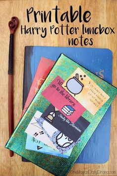 These printable Harry Potter lunchbox notes are fun for school, but also make great bookmarks. Lots of different designs - all free!  #harrypotter #freeprintable #bookmarks #lunchnotes