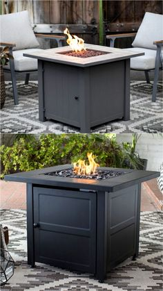 24 Best Fire Pit Ideas to DIY or Buy ( Lots of Pro Tips! ) 24 Best Fire Pit Ideas to DIY or Buy Sitting around an outdoor fire pit with loved ones, gazing at the warm flames under the starry night sk Propane Fire Pit Table, Wood Fire Pit, Fire Pit Grill, Easy Fire Pit, Wood Burning Fire Pit, Concrete Fire Pits, Garden Fire Pit, Fire Pit Backyard, In Ground Fire Pit