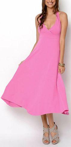 Baby Pink Monroe Halter Dress