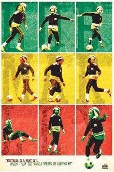 """""""El fútbol es una parte de lo que toco el mundo se despierta a mi alrededor"""" BOB MARLEY"""