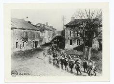 316th Reg. Infantry passing through Buzancy, Ardennes, France, Nov. 3, 1918.