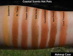 Coastal Scents hot pot swatches