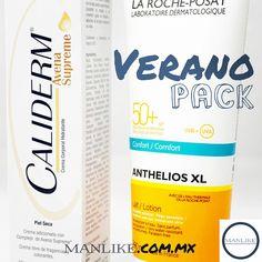 Pack de Protector solar Anthelios 50+ y crema humectante Caliderm avena suprema.