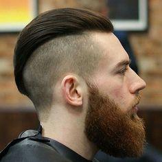 Slicked Back Undercut with Beard - Best Disconnected Undercut Haircuts For Men: Cool Disconnected Hairstyles For Guys Undercut Curly Hair, Undercut With Beard, Short Hair With Beard, Undercut Hairstyles, High Skin Fade, Popular Mens Haircuts, Haircuts For Men, Men's Haircuts, Popular Hairstyles