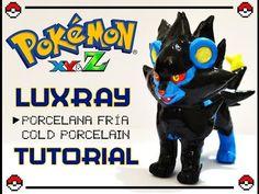 Pokémon Luxray polymer clay figurine tutorial